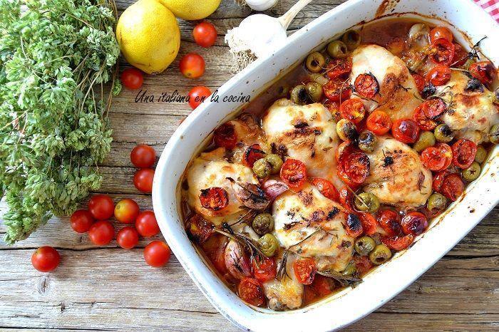 Muslitos de pollo a la mediterránea