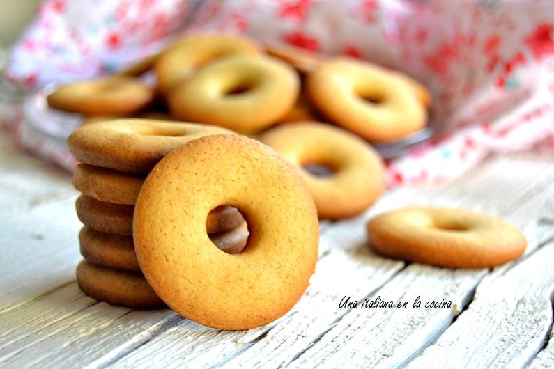 Galletas de nata friables y crujientes