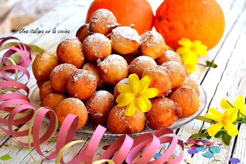 Buñuelos de ricotta y naranja, castagnole