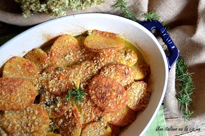 Cordero con patatas al horno