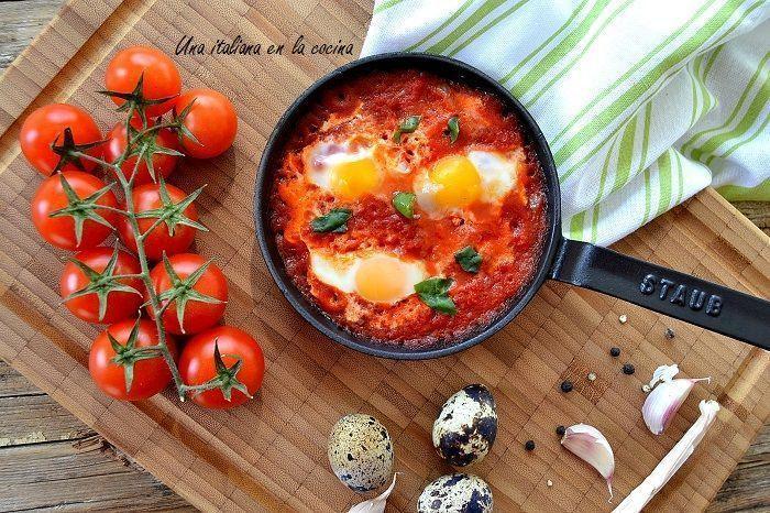 Huevos a la italiana o huevos en purgatorio