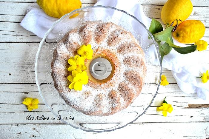 Bizcocho de limón y almendras