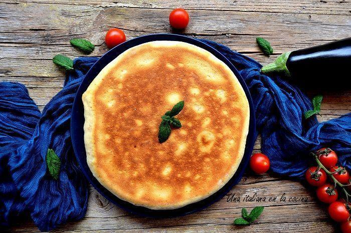 Focaccia de berenjenas a la parmesana
