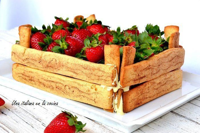 tarta caja de fruta