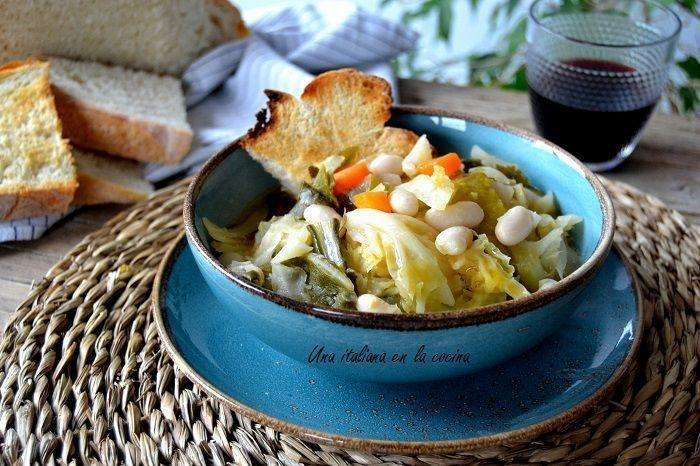 Ribollita toscana, una sopa tradicional de Toscana