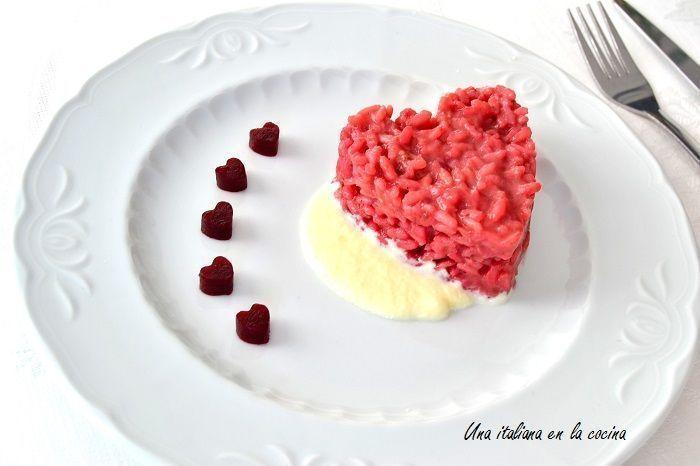Risotto de San Valentin ¡Rojo pasión!