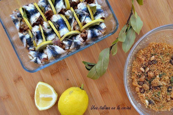 Sardinas beccafico, un sabor diferente