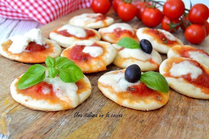 Mini pizzas rapidísimas, listas en 5 minutos
