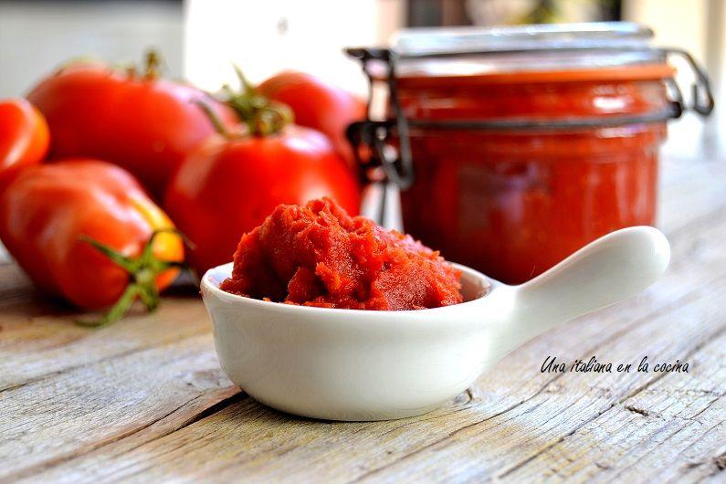 Concentrado de tomate hecho en casa