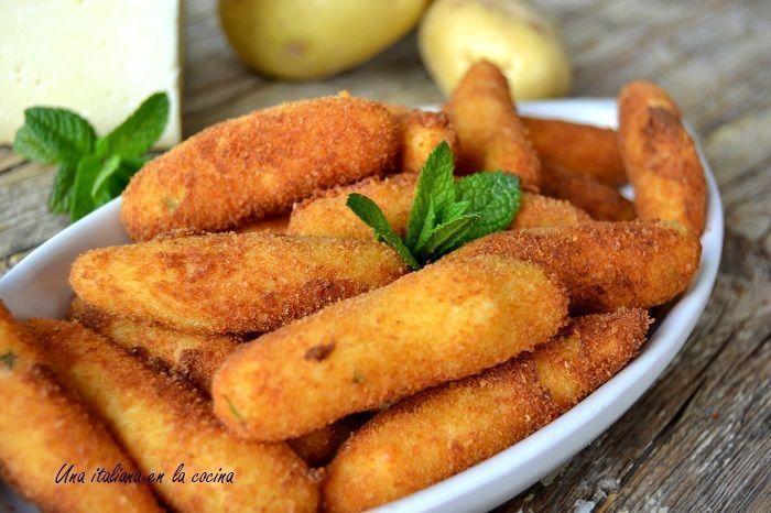 Croquetas de patatas italianas, sin sofrito ni bechamel