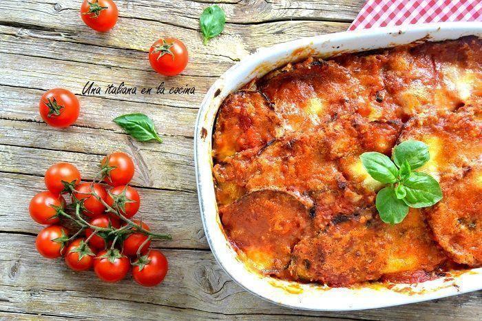 berenjenas a la parmesana o melanzane alla parmigiana
