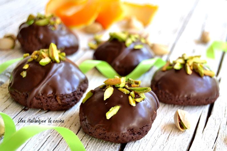Galletas de chocolate y naranja, rame di Napoli